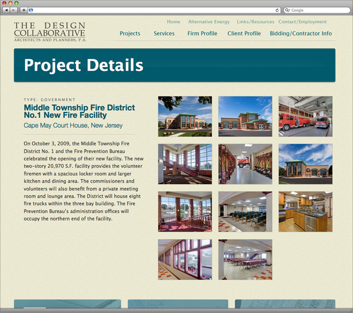 South Jersey Custom Web Design Portfolio The Design Collaborative