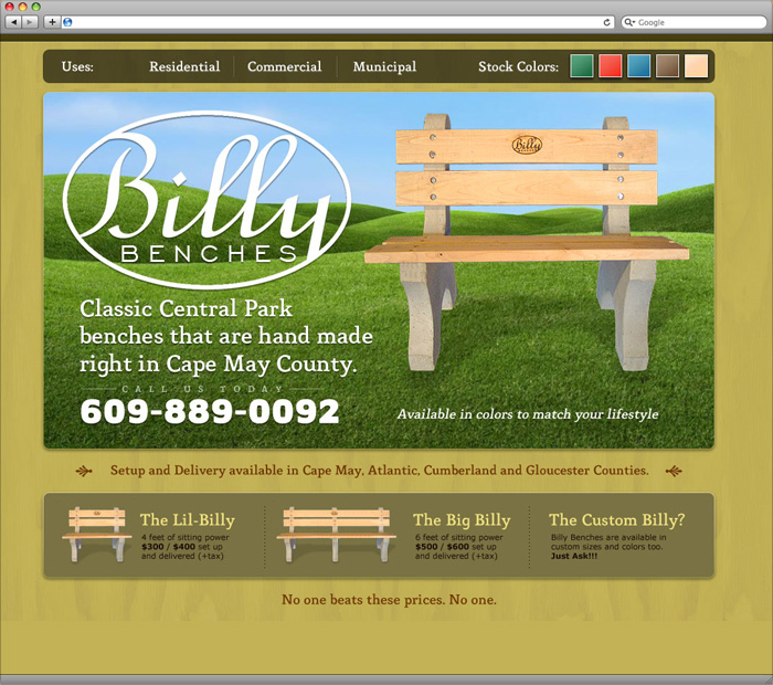 Billy Benches screenshot