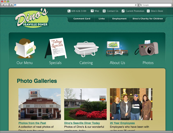 Photo Galleries page of the website.