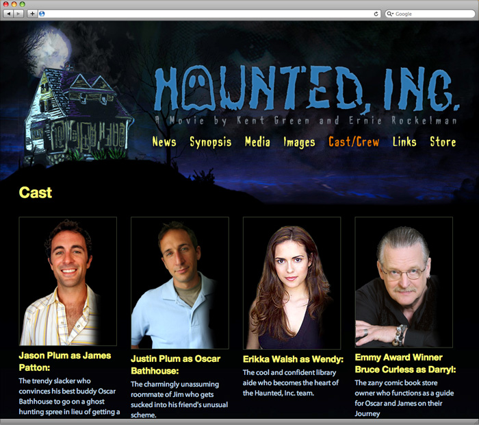 Haunted, Inc. Cast and Crew Page