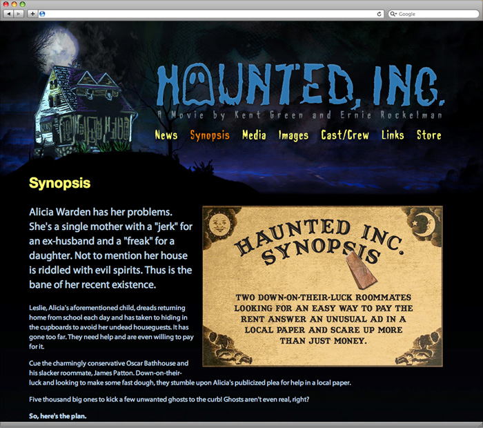 Haunted, Inc. Movie Synopsis Page